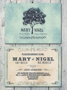 Custom listing for Liz - Additional Set of 20 - Romantic Tree and Lights Wedding Save the Date - Wedding Stationery - ID166