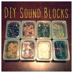 DIY Sound blocks for infants and toddlers, I would Gorilla Glue these.