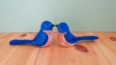 felted birds needle felted animal bird ornament bluebird