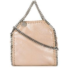 Stella McCartney mini 'Falabella' crossbody bag (2,515 AED) ❤ liked on Polyvore featuring bags, handbags, shoulder bags, leather crossbody, faux leather purse, faux-leather handbags, pink leather handbag and mini crossbody
