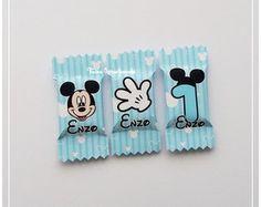 50 Balas Mickey Mouse Baby Azul