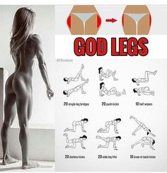 Home legs workout no weights. Body-Weight Exercises for Stronger Legs - Upgrade your workout routine with these 10 leg exercises for women. Work your thighs hips quads hamstrings and calves at home to build shapely legs and get the lean and strong lowe Fitness Workouts, Fitness Motivation, At Home Workouts, Leg Workouts, Fitness Weightloss, Leg Workout Women, Butt Workout, Weight Exercises, Leg Exercises