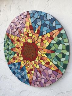 Afternoon sun on my Gaudi inspired sun mosaic - need your help with fb these days so if you would like to show your friends that would be great  Fx