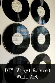 Vinyl Record Wall Art | Endlessly Inspired - http://www.oroscopointernazionaleblog.com/vinyl-record-wall-art-endlessly-inspired/