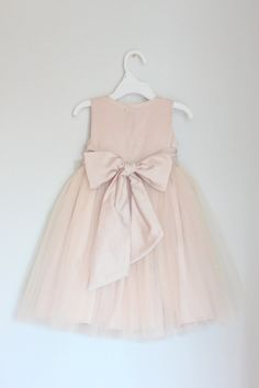 The Elizabeth Dress: Handmade flower girl dress, tulle dress, wedding dress, communion dress, bridesmaid dress, tutu dress
