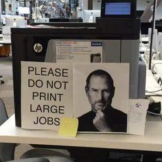 Please don't print large jobs