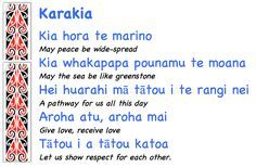 Springston Te Reo : More karakia for class. Maori Words, Maori Symbols, Favorite Words, Work Quotes, Moana, Language, Teaching, Kiwi, Image