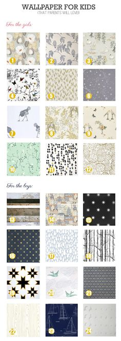 some good options here; Rambling Renovators: Wallpaper For Kids That Parents Will Love
