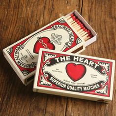 """The Sacred Heart 4"""" matches, perfect for wedding favors"""