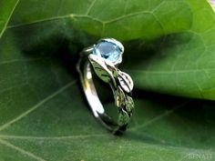 Three leaf Half Floral Ring Marquise Blue Topaz Ring 925 Sterling Silver Women/'s Dainty Ring Valentine Gift For her Thanksgiving ring