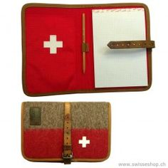 Schreibblock / Writing pad is made of army blanket. Includes a writer and a block. The Swiss cross isn't missing, because it's also a Swiss product. Swiss Switzerland, Office Gadgets, Swiss Army, Laptop Case, Recycling, Iphone, My Love, Writing, Blankets
