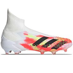 adidas Predator FG blancas y rojas Adidas Cleats, Soccer Cleats, Football Soccer, Adidas Predator, Ronaldo, Under Armour, Kitten Heels, Gucci, Artificial