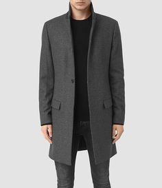 Buy AllSaints Navan Single Breast Coat, Charcoal Grey from our Men's Coats & Jackets range at John Lewis & Partners. Mens Overcoat, Coat Sale, Sports Jacket, Mens Sale, Stylish Men, Cartoon Network, Mens Suits, Parka, Mens Fashion