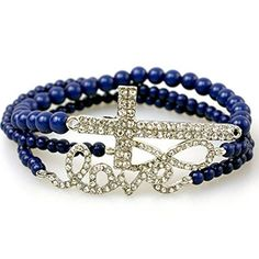 Accessory Accomplice Silvertone Crystal Studded Cross, Love, & Infinity Navy Blue Bead Stretch Bracelet Set Accessory Accomplice http://www.amazon.com/dp/B00DR14T38/ref=cm_sw_r_pi_dp_B6q7tb0NQ2DS9