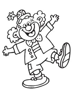 Clown coloring page Cute Coloring Pages, Animal Coloring Pages, Coloring Pages For Kids, Adult Coloring, Coloring Books, Preschool Circus, Fall Preschool, Preschool Activities, Clown Crafts