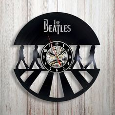 This item is unavailable Vinyl Record Art, Record Clock, Record Wall, Vintage Vinyl Records, Vinyl Art, The Beatles, Beatles Gifts, Beatles Art, Records Diy