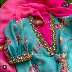 Saree Blouse Neck Designs, Fancy Blouse Designs, Bridal Blouse Designs, Traditional Blouse Designs, Stylish Blouse Design, Hand Work Blouse Design, Indian Sarees, Kurtis, Indian Wear