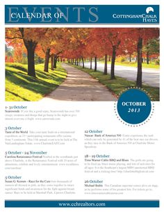 Charlotte, NC ~ Calendar of Events for October 2013