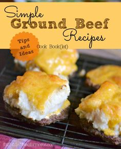 Simple Ground Beef Recipes ~ Free download! Lots of meals made with frozen…