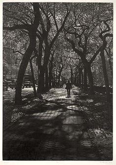Art Werger - Central Park, New York (Mezzotint)