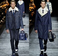 Dior Homme 2015-2016 Fall Autumn Winter Mens Runway Catwalk Looks - Mode à Paris Fashion Week Mode Masculine France - Denim Jeans Houndstooth Check Outerwear Oversized Coat Suit Leather Jogger Sweatpants Tuxedo Cocktail Jacket Nautical Vest Waistcoat Parka Cargo Pockets Cap Sweater Jumper Bag Pinstripe Shearling Wide Lapel Layers Fauna Leaves Foliage Briefcase Pinback Buttons