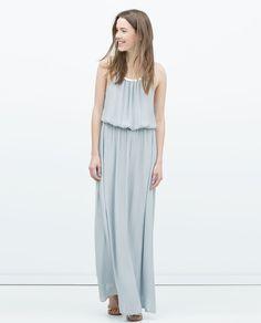 5ccb60887bf2 Image 1 of LONG DRESS WITH APPLIQUÉ NECKLINE from Zara Zara Damen, Prom  Outfits,