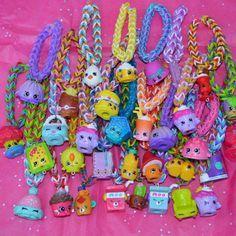 VENTE Shopkins Party Favor Pack de Rainbow Loom Bracelets
