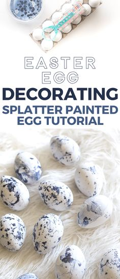 Love this nontraditional way of decorating Easter eggs! Splatter painted easter egg decorating tutorial. Pinning for later!