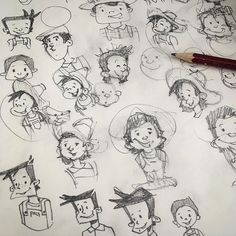 #sketch #scribble #illustration #pencil #kids_of_our_world #kiddos #childrensbooks #face #boy #funny #bastiangroscurth #gobastiano