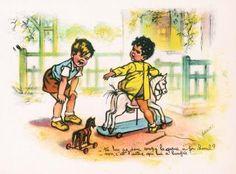 - Tu lui as coupé la queue à ton cheval ?  - Non, c'est l'autre qui lui a bouffée!...