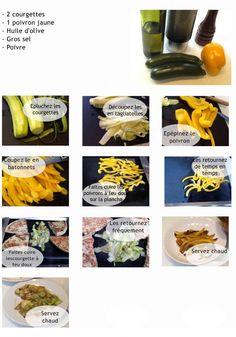 tagliatelle de courgette et batonnet de poivron http://lacuisinedemarine.eu/kebab-chic-choc-a-la-marine/