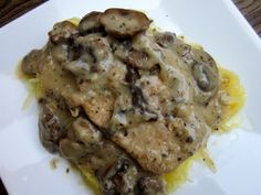 Mushroom Ranch Pork Chops in the Crock-Pot  Pork chops, ranch packet, cream of chicken soup, 1 can water (can mix in some white wine or sherry) ~ Cook on low for 4-6 hours. Amazing! Goes great with mashed potatoes.