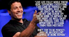 Tony Robbins Quotes, Personal Power and Motivation! Quotes Dream, Life Quotes Love, Great Quotes, Quotes To Live By, Daily Quotes, Robert Kiyosaki, Leadership Quotes, Success Quotes, Tony Robbins Quotes