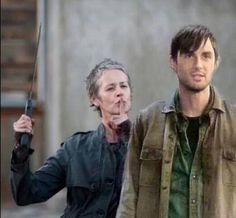 Photoshopped but still awesome!!! Carol Peletier. Gareth. Terminus. TWD. The Walking Dead.