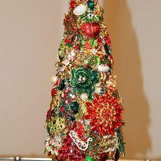 Jeweled Christmas Tree | Etsy