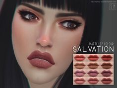 The Sims Resource: Salvation - Matte Lip Colour by Screaming Mustard • Sims 4 Downloads