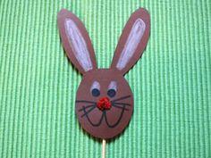 zajíček - zápich do květináče Easter Crafts, Easter Bunny, Kindergarten, Kids, Craft Ideas, Check, Google, Young Children, Children