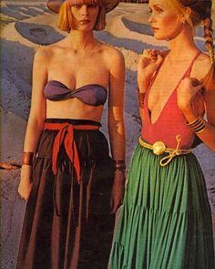 Discover our summer beauty essentials. Photo: @voguemagazine, 1976