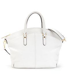 Calvin Klein Leather Tote Bag Purse Now