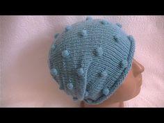 Вязание шапки с с шишечками. - YouTube