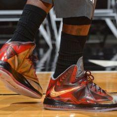 Nike LeBron X 10 Ironman 3 Stark - Mens Basketball Shoes Custom Jordans, Custom Sneakers, Lbj Shoes, Nike Mag, Nike Kicks, Nike Foamposite, Latest Shoe Trends, Fresh Shoes, Air Jordan 5 Retro