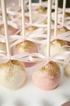 20 Gold and Pink Baby Shower Ideas | acheerymind.com