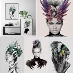 Women Inspired Art Collection Linn Wold, gretaboho.com Printable Art, Printables, Art Drawings, Flora, Paintings, Illustrations, Inspired, Lifestyle, Prints