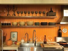 HGTV Shop the Look: Country Kitchen with Open Shelving >> http://photos.hgtv.com/rooms/viewer/country/orange-country_style-kitchen-with-open-shelving?soc=pinterest