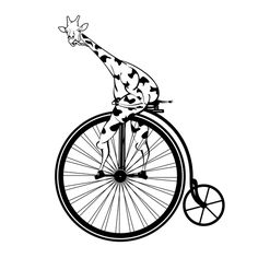 STENCIL Old Fashioned Bicycle Penny Farthing  10x8.5