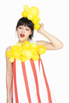 DIY Hot Air Balloon Halloween CostumeDIY Cotton Candy Halloween CostumeDIY Popcorn Halloween Costume