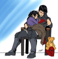 Jason and Lian sleeping awww