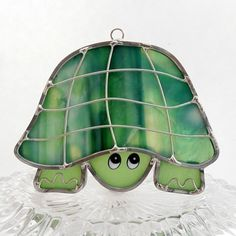 Stained Glass Sun Catcher Turtle Suncatcher Timmy the by GlassCat, $15.00