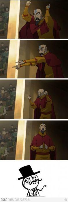 Tenzin celebrates like a sir.