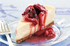 This gorgeous Vanilla cheesecake with poached rhubarb takes the cake as winner of this week's Food Fight!